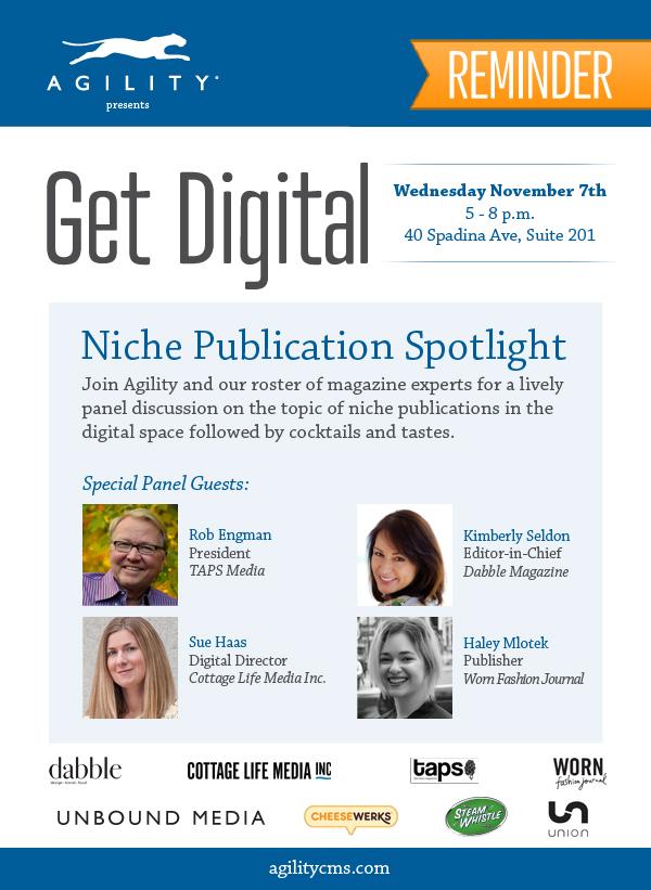 Get Digital 2 - Niche Publication Spotlight - Reminder