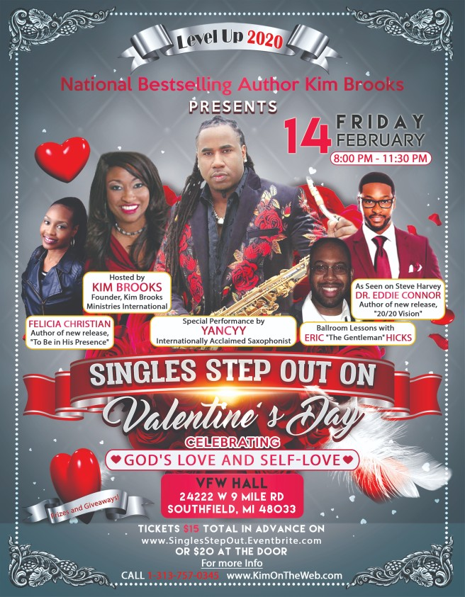 Singles Step Out Flyer VDay 2020