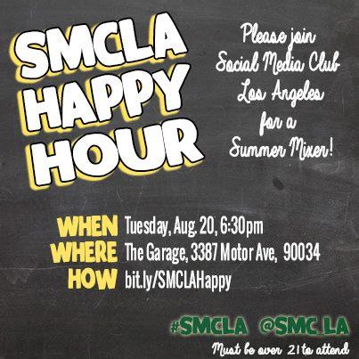 SMCLA Happy Hour Summer Mixer 8/20