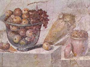 Still life of fruit from Pompeii