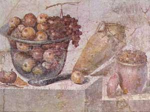 Still life of fruit from Pompeii