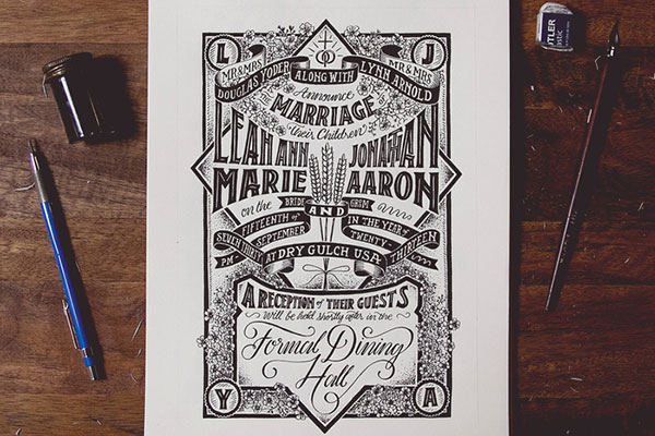 Hand Lettering by Nathan Yoder