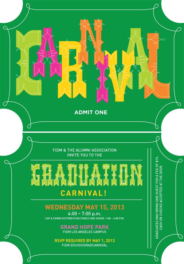 Grad Carnival Invitation