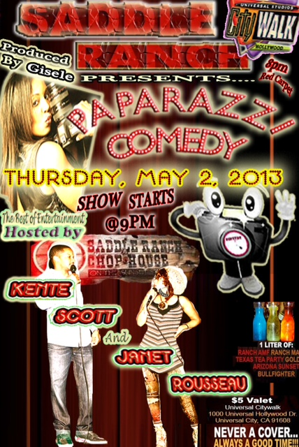 Paparazzi Comedy at Saddle Ranch Universal