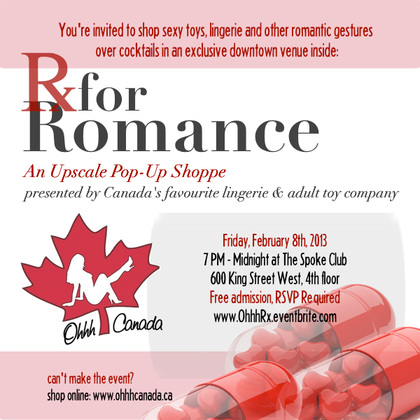 Rx for Romance ~ February 8th, 2013 ~ presented by Ohhh Canada