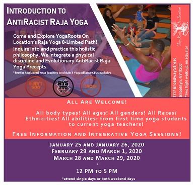 Introduction to AntiRacist Raja Yoga flyer