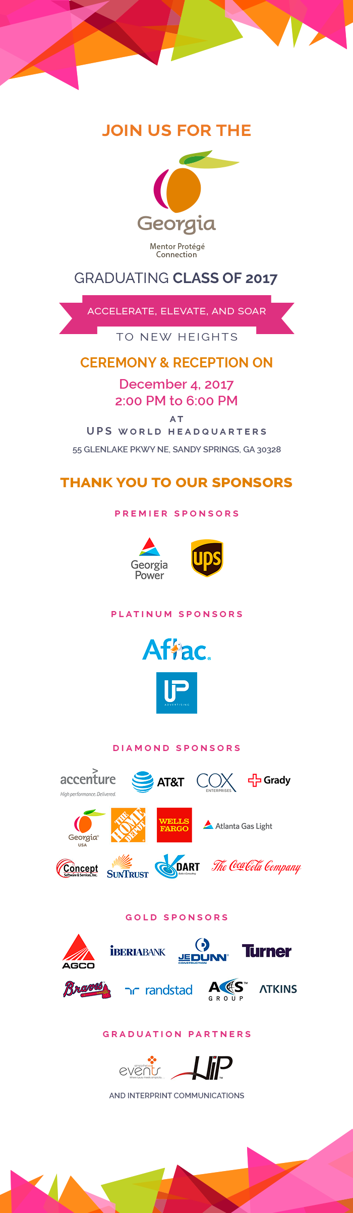 GMPC 2017 Graduation Sponsors