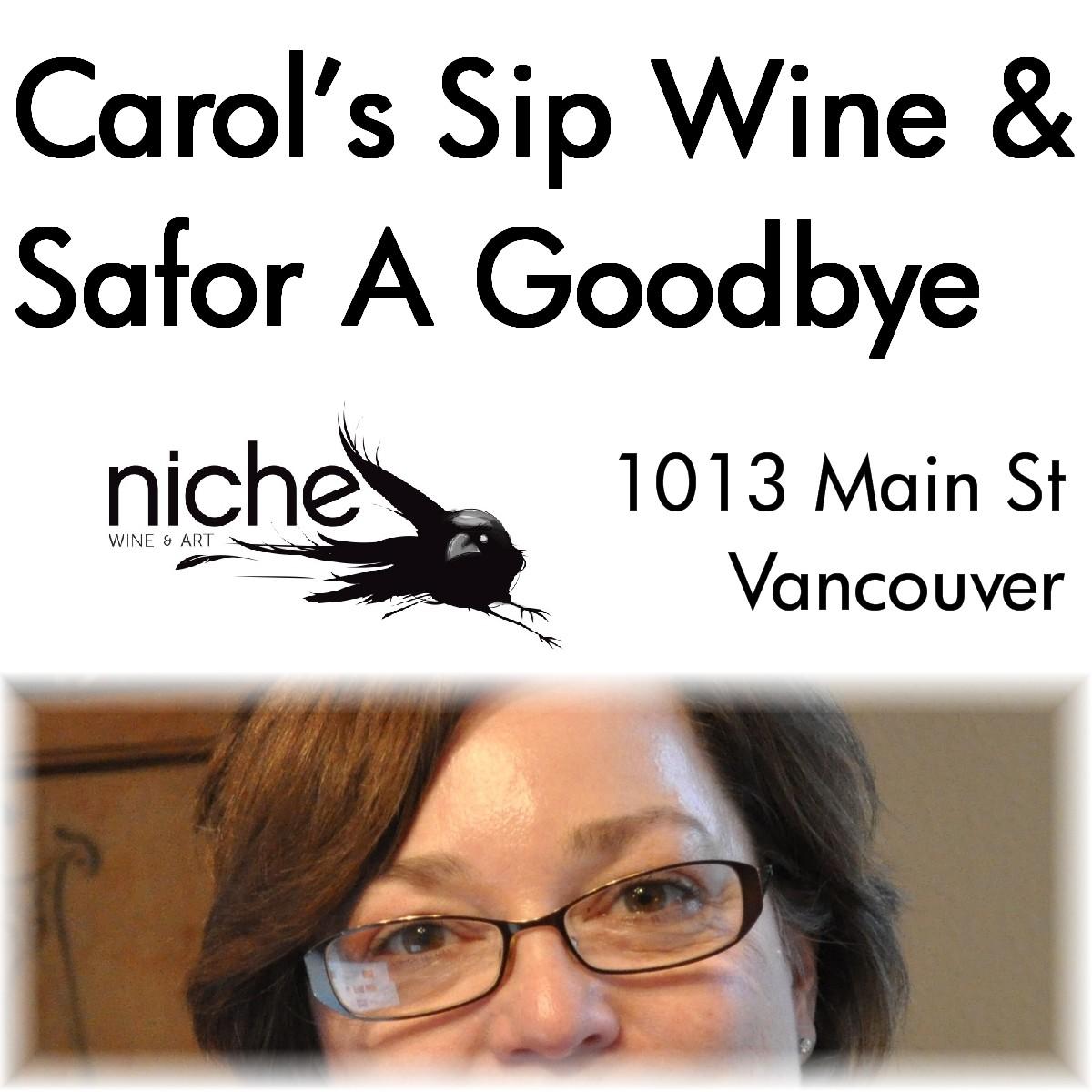 Logo Sip Wine A Savor A Goodbye Party