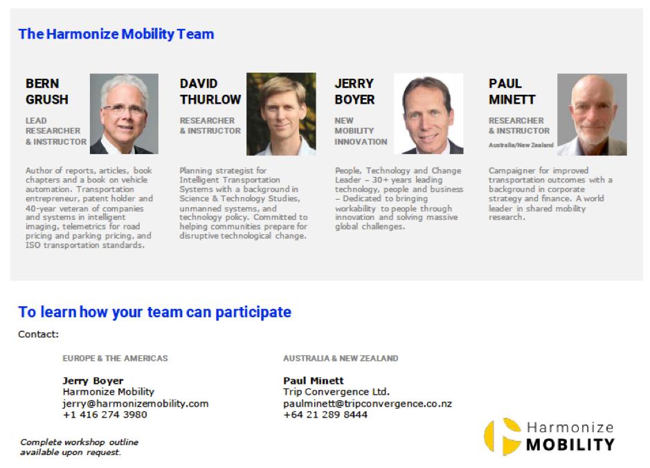 Harmonize Mobility Team