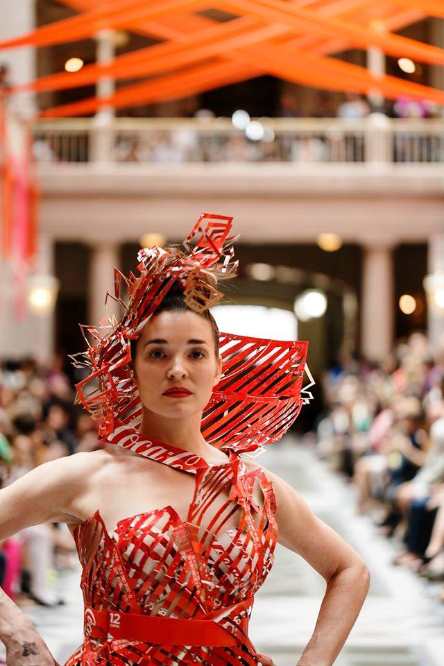 Design by Carmen Bermudez, Trashion Fashion, Hartford, 2016