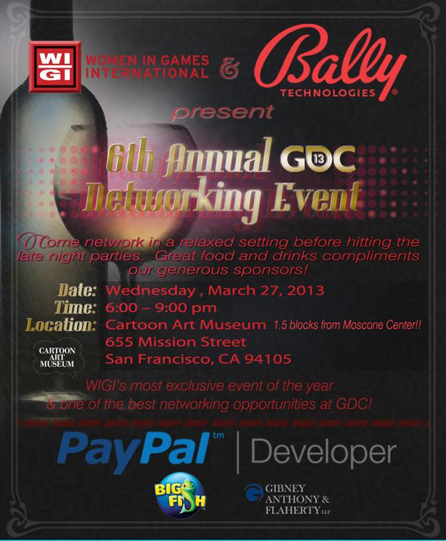 WIGI & Bally Technologies Present the 6th Annual GDC Party!