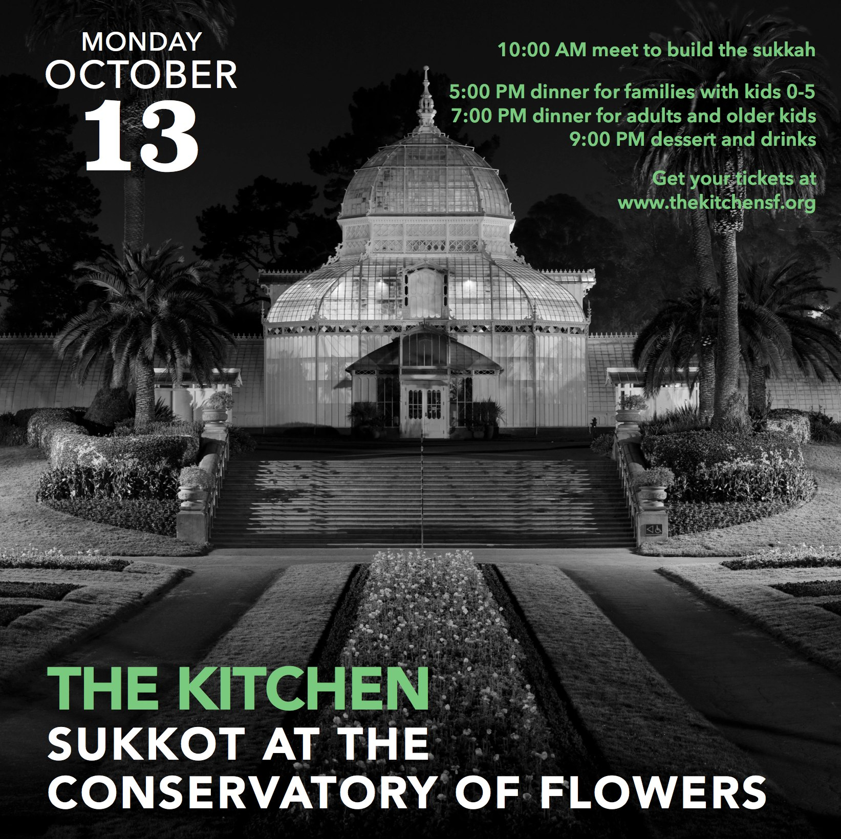 Sukkot at the Conservatory of Flowers @ Conservatory of Flowers | San Francisco | California | United States