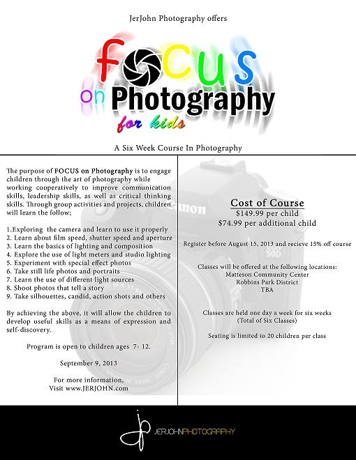 Information for Focus on Photography