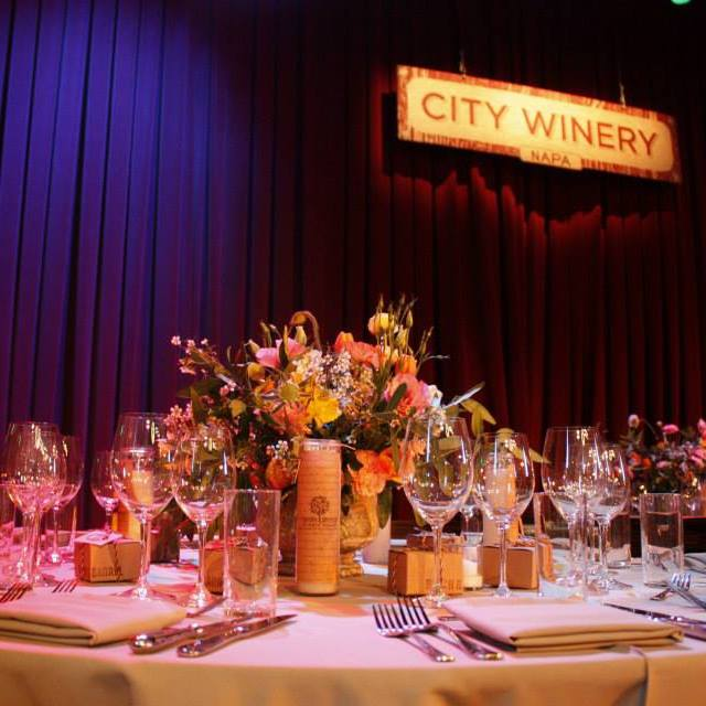 City Winery Curtain Front and Table