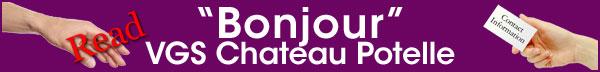 Read Bonjour Chateau Potelle