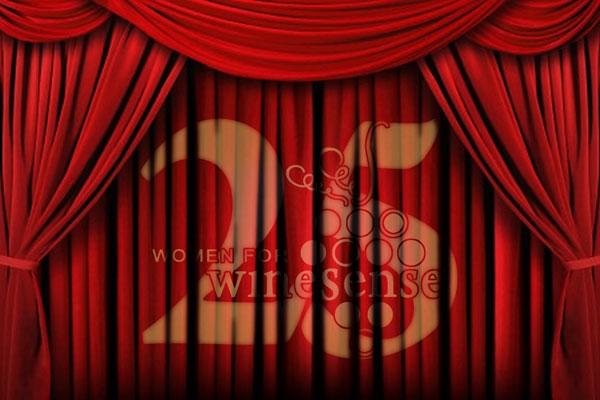25th Anniversary WWS Logo on curtain