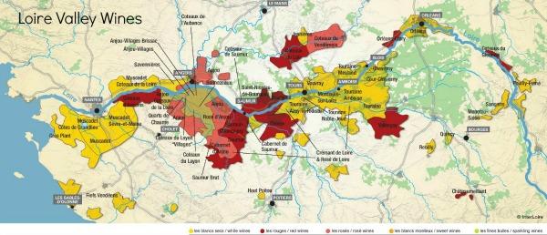 Loire Valley wine map