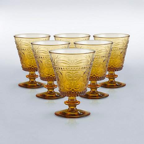 Wine Enthusiast Amber Stemware