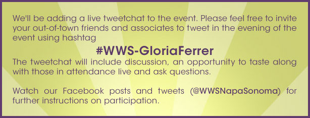 Live tweet instructions for #WWS-GloriaFerrer