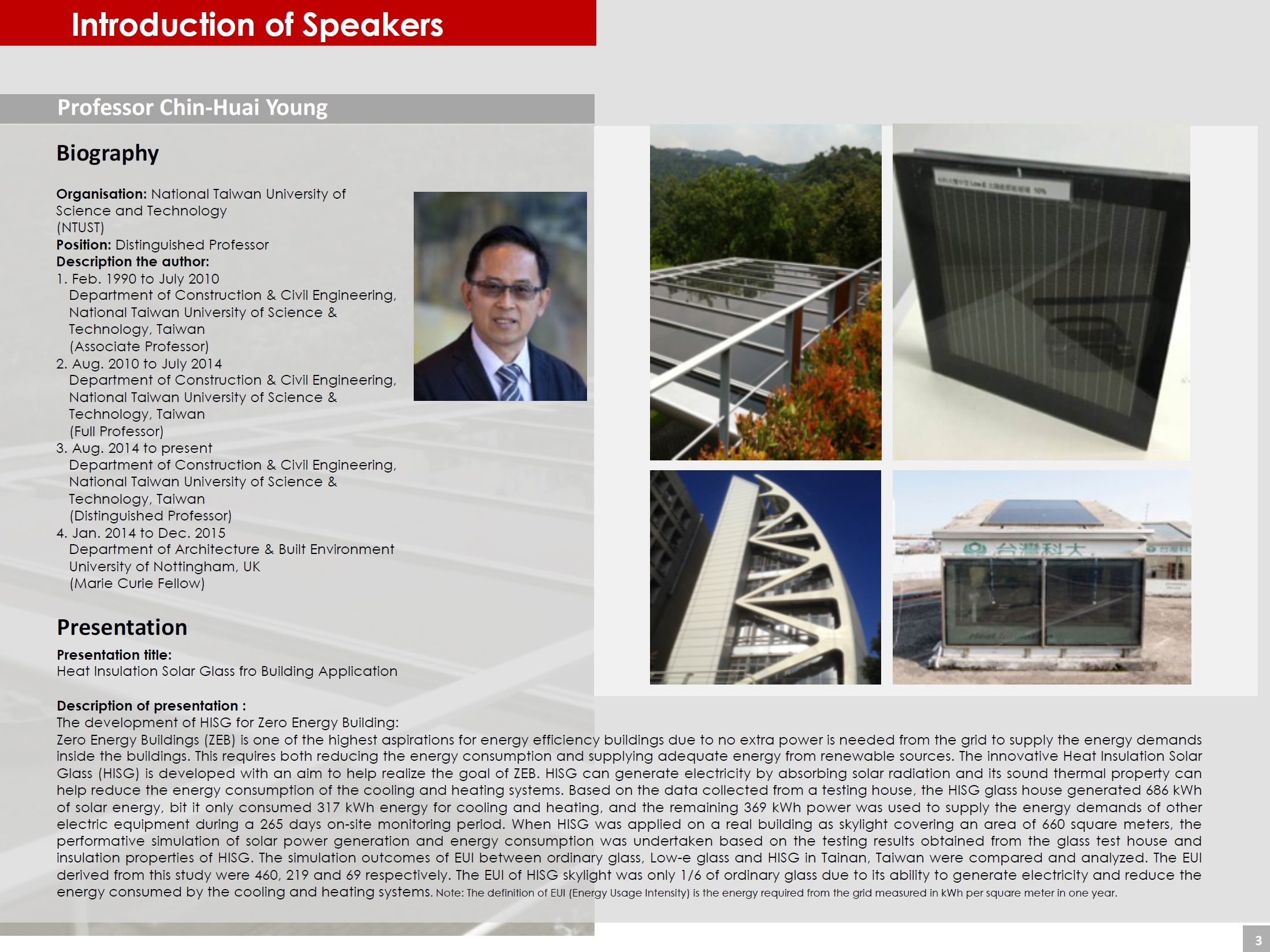Page 3 (Introduction of Speakers)