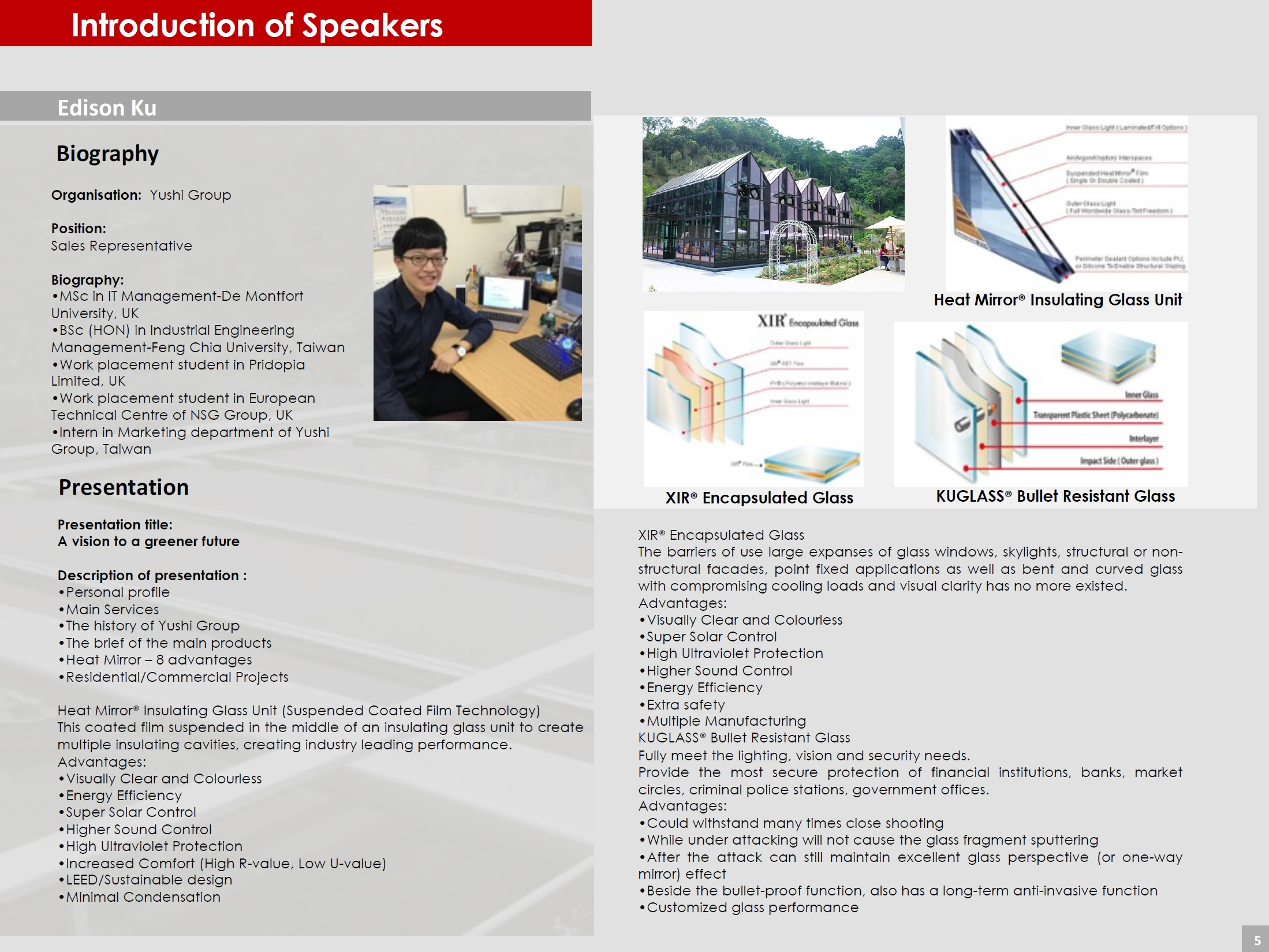 Page 5 (Introduction of Speakers)
