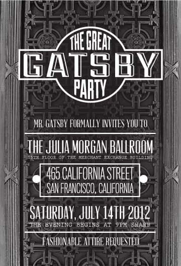 Great Gatsby Party at the Julia Morgan Ballroom San Francisco