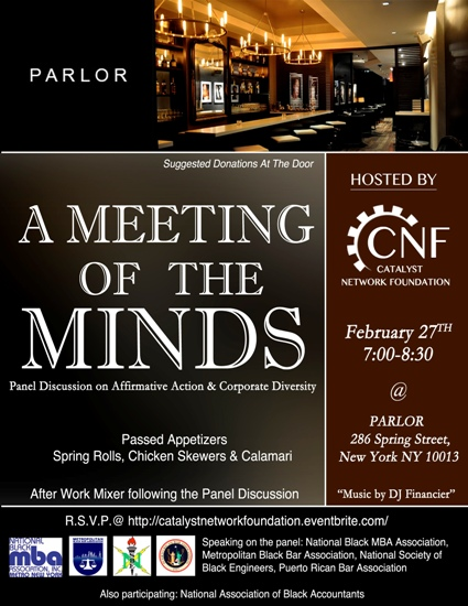 CNF Presents: A Meeting of the Minds Flier 2.27.13