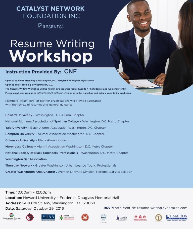 resume writing workshop washington d c tickets sat