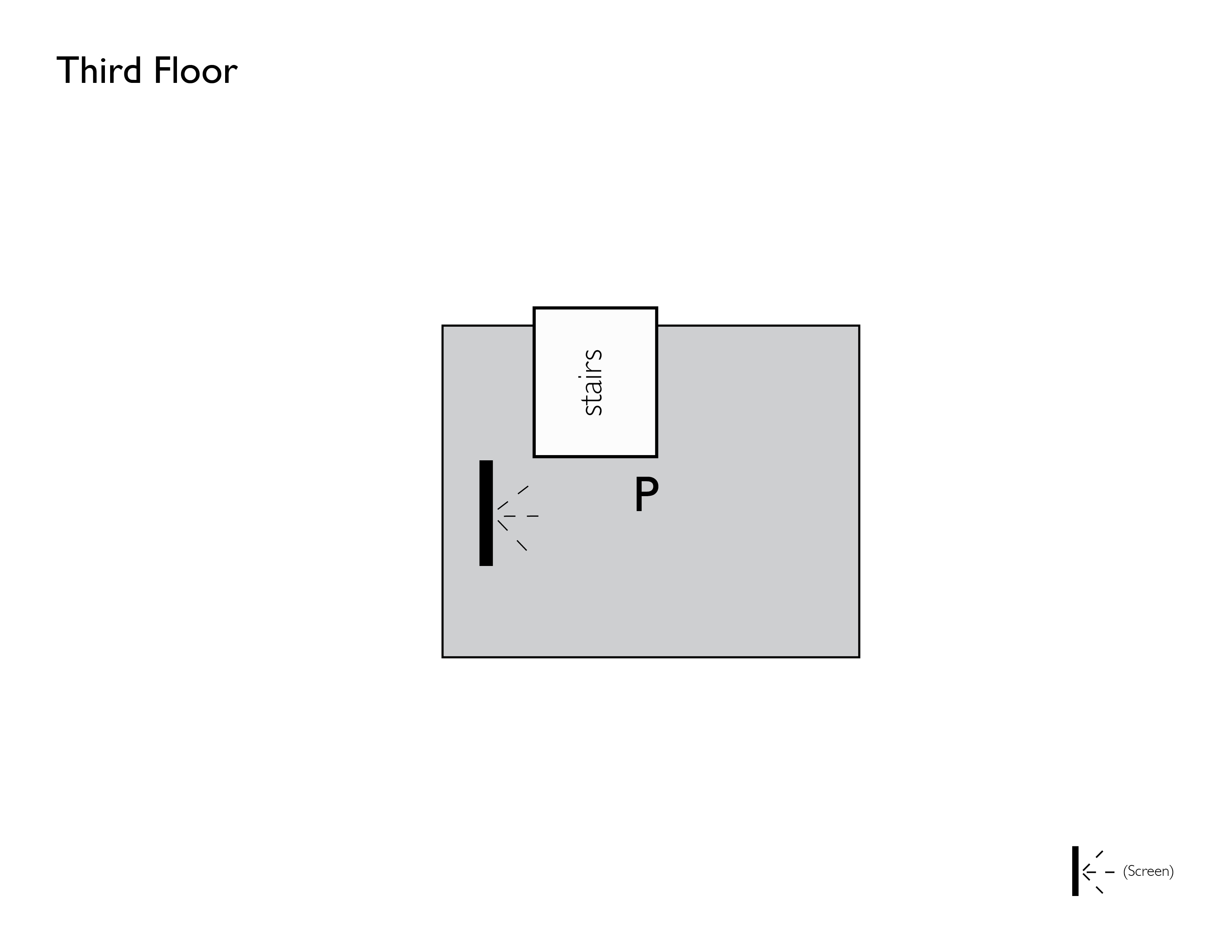 Patrons' Show Seating Third Floor