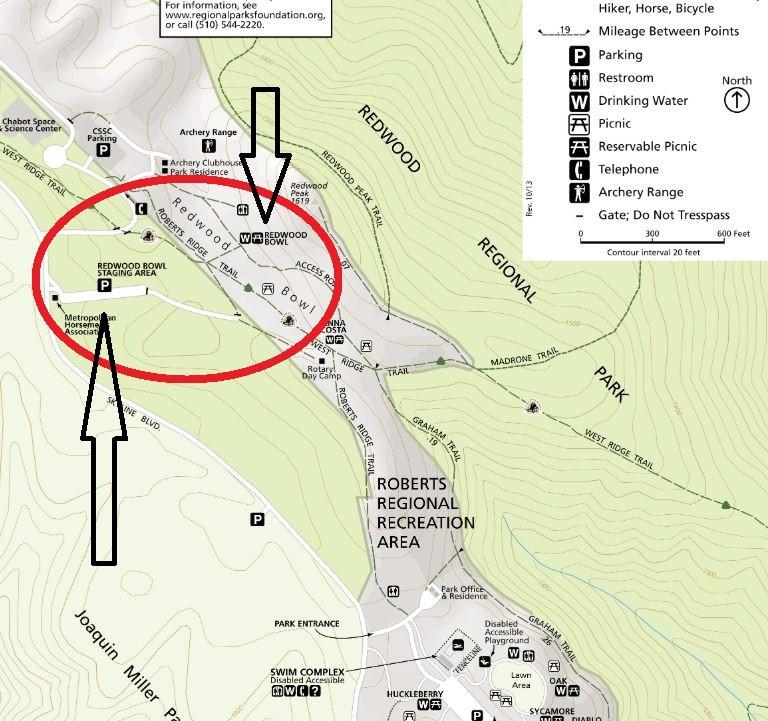 Redwood Bowl Staging Area