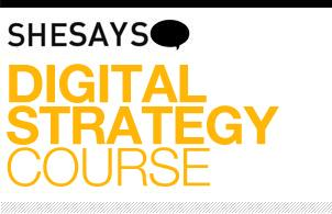 SheSays presents Digital Strategy Course