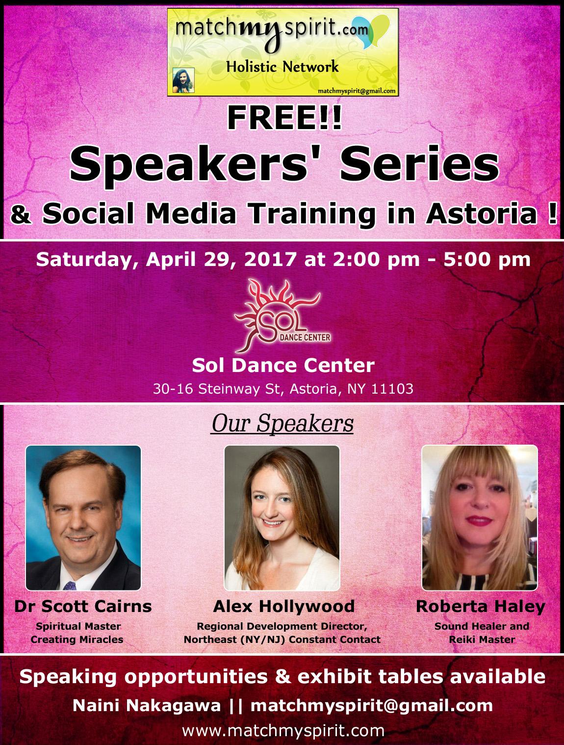 Speakers' Series & Social Media Training in Astoria
