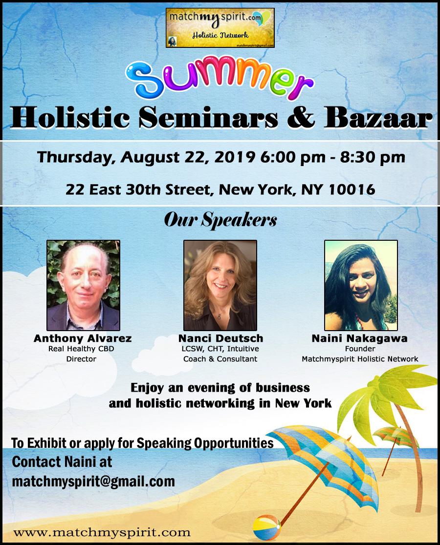 Summer Holistic Seminars & Bazaar
