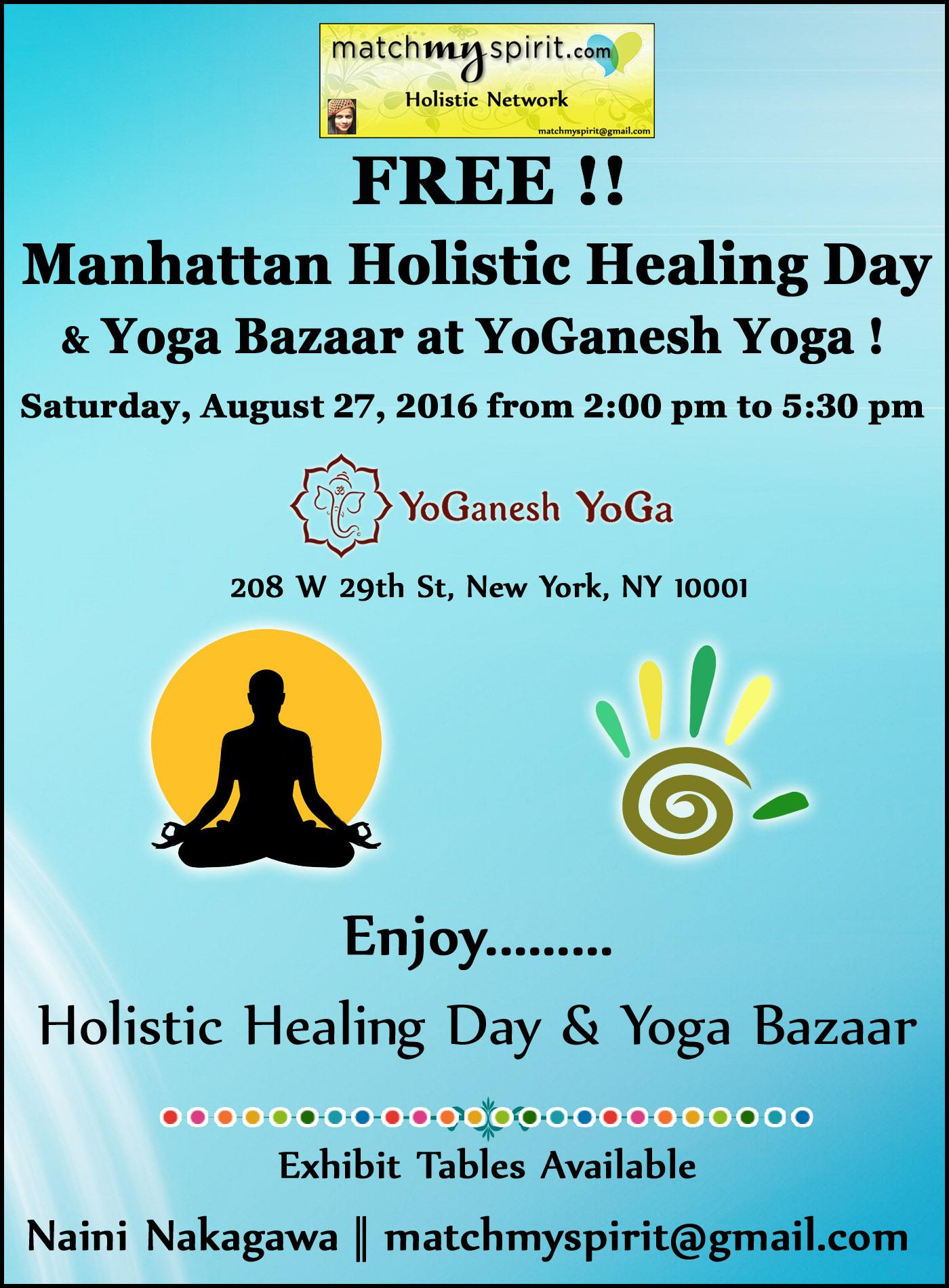 FREE!! Manhattan Holistic Healing Day & Yoga Bazaar !