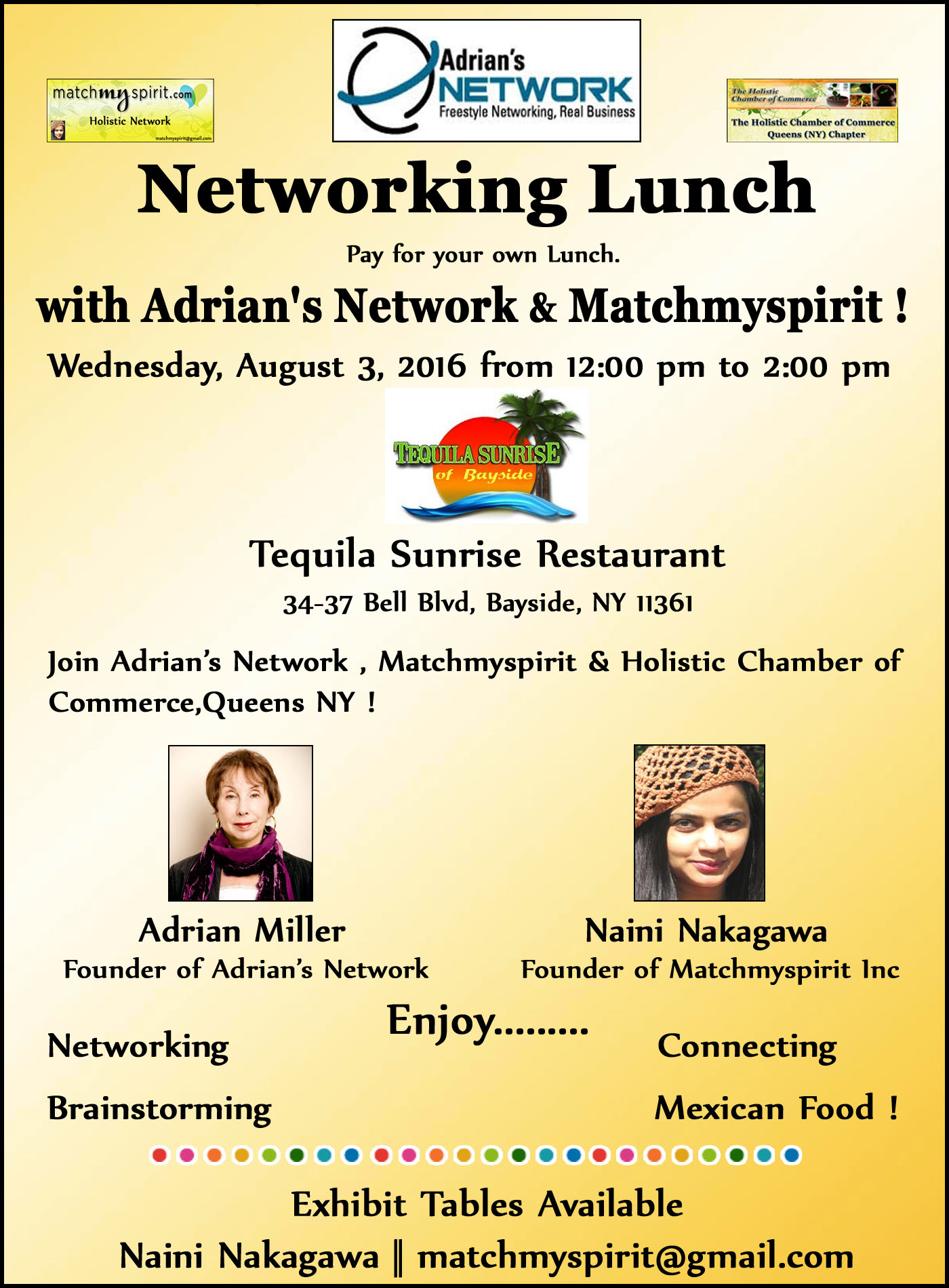 Networking Lunch with Adrian's Network & Matchmyspirit !