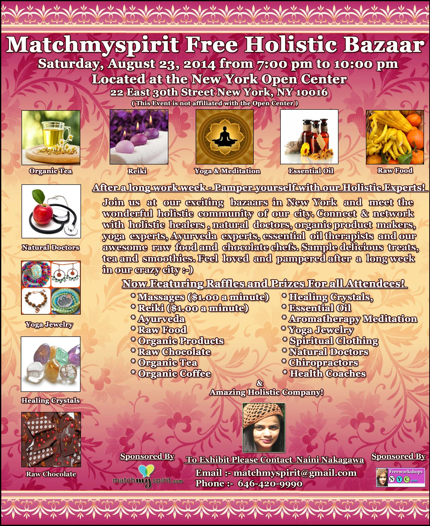 Matchmyspirit Free Holistic Bazaar at New York Open Center