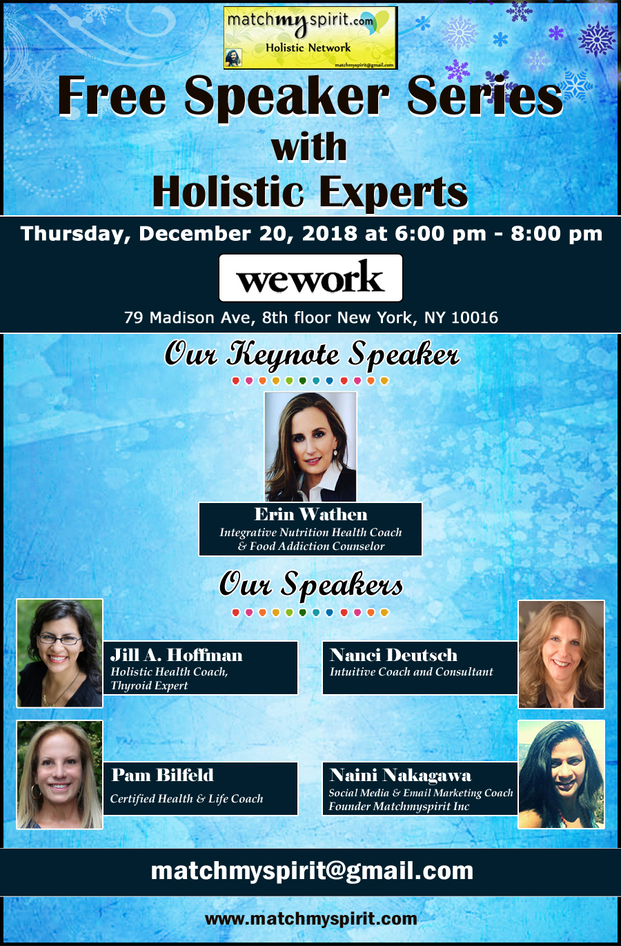 Speaker Series with Holistic Experts