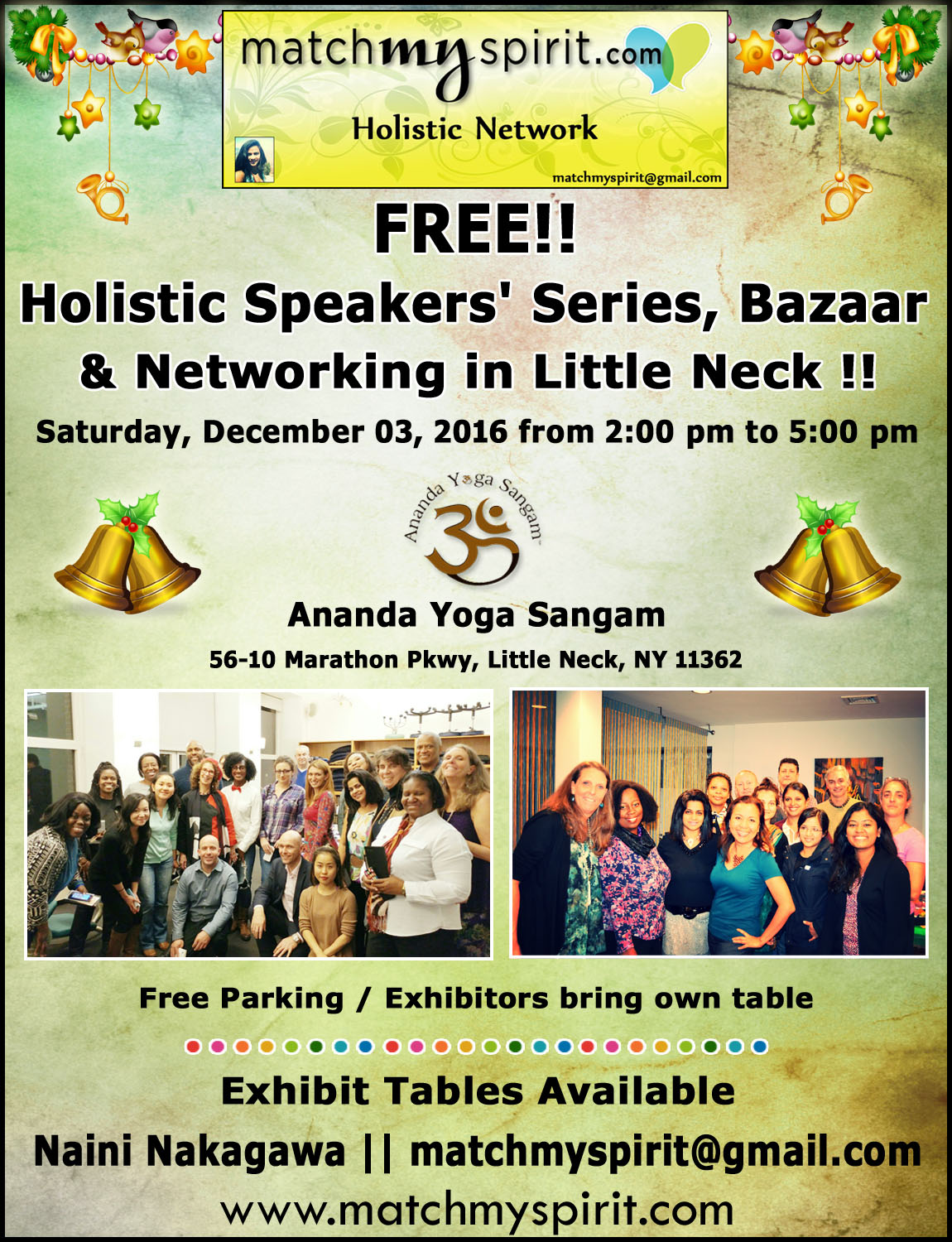 FREE!! Holistic Speakers Series, Bazaar & Networking in Little Neck