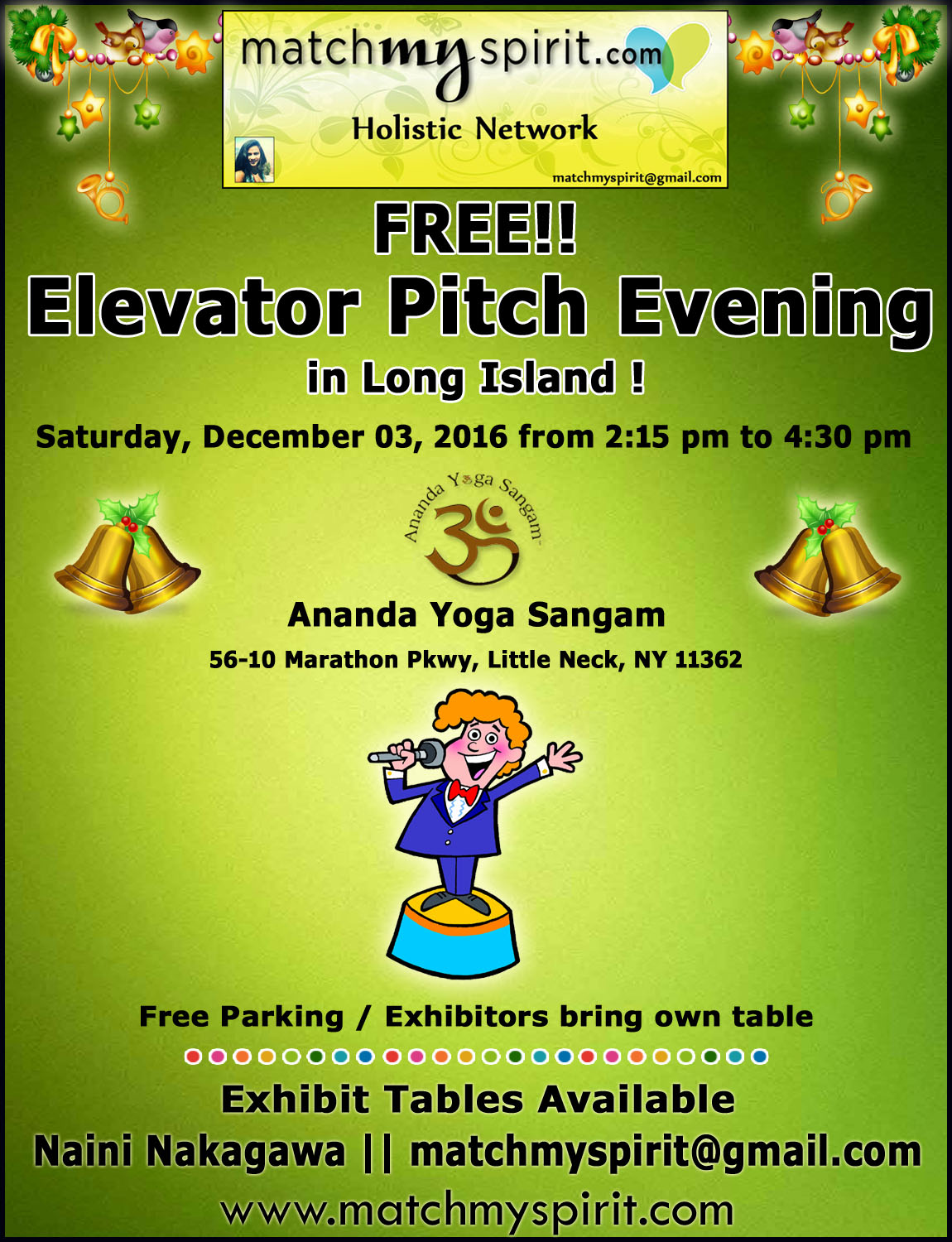 FREE!! Elevator Pitch Evening in Long Island