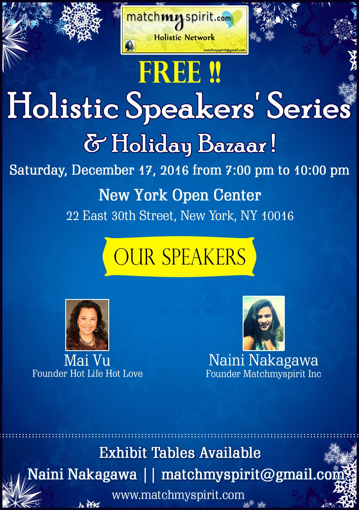 Holistic Speakers' Series  & Holiday Bazaar