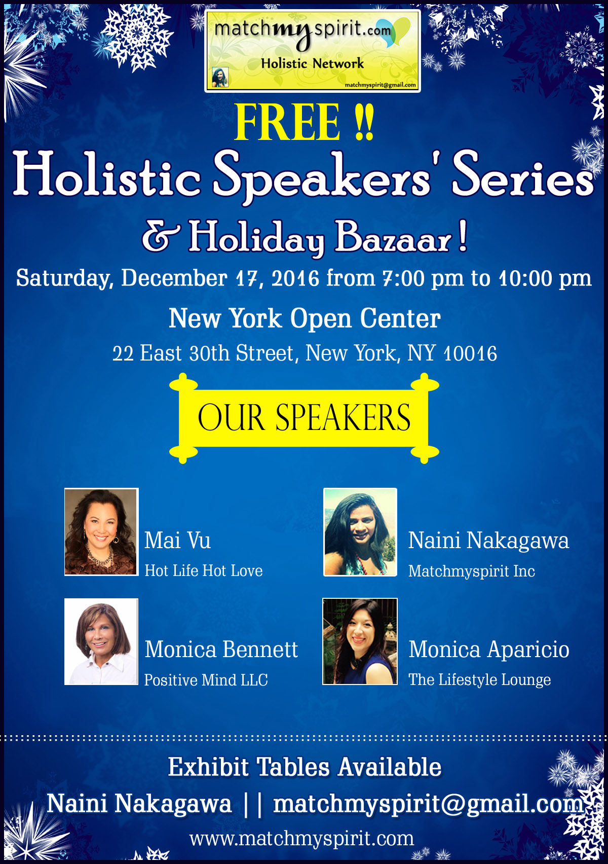 Holistic Speakers' Series  & Holiday Bazaar
