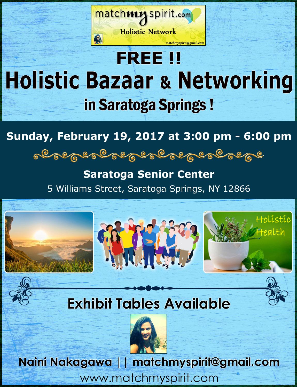 FREE!! Holistic Bazaar & Networking in Saratoga Springs