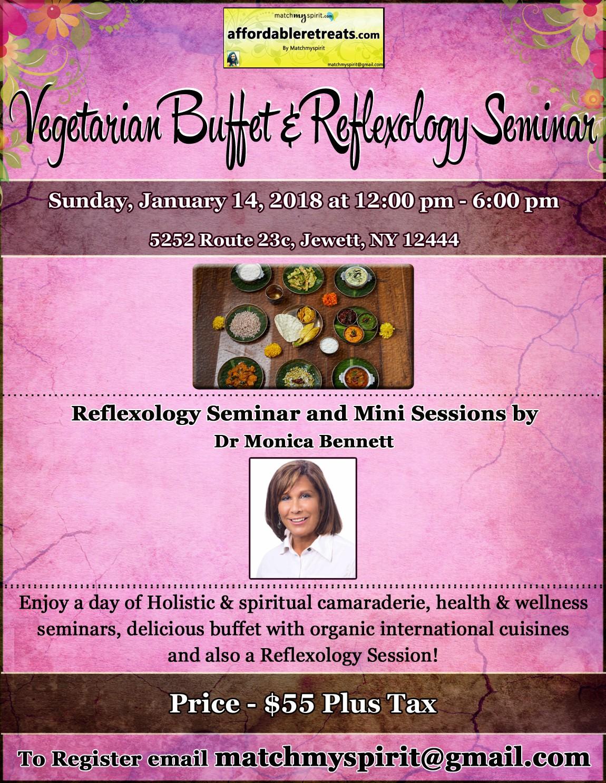 Vegetarian Buffet & Reflexology Seminar