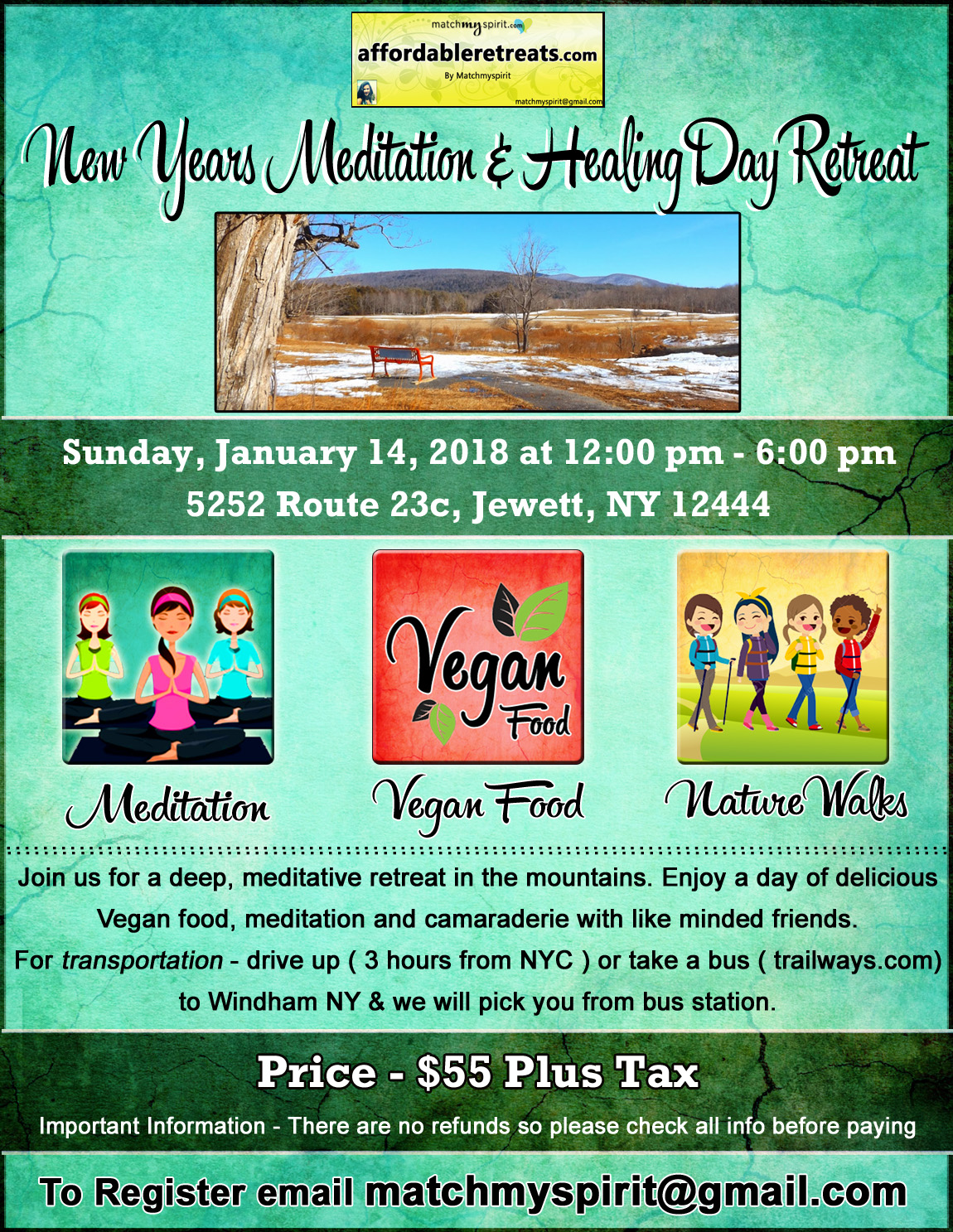 New Years Meditation & Healing Day Retreat