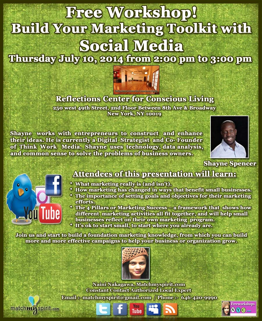 Free Workshop! Build Your Marketing Toolkit with Social MediaFree Workshop! Build Your Marketing Toolkit with Social Media