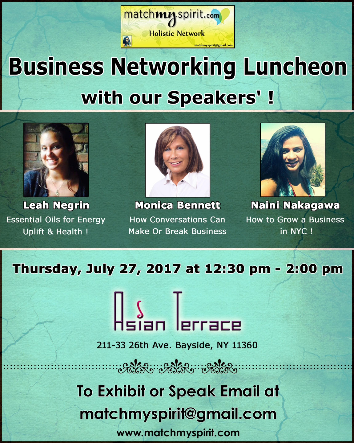 Business Networking Luncheon with our Speakers !