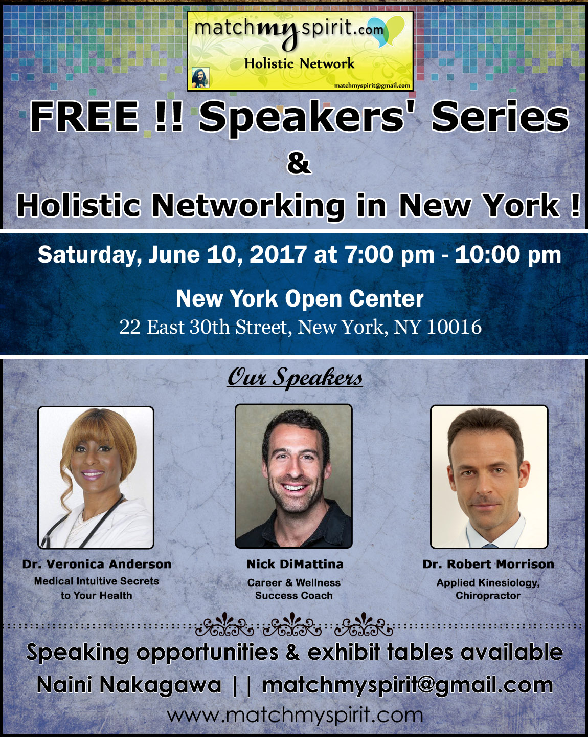FREE!! Speakers' Series & Holistic Networking in New York