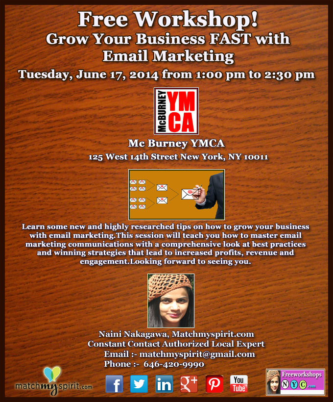 Free Workshop! Grow Your Business FAST with Email Marketing