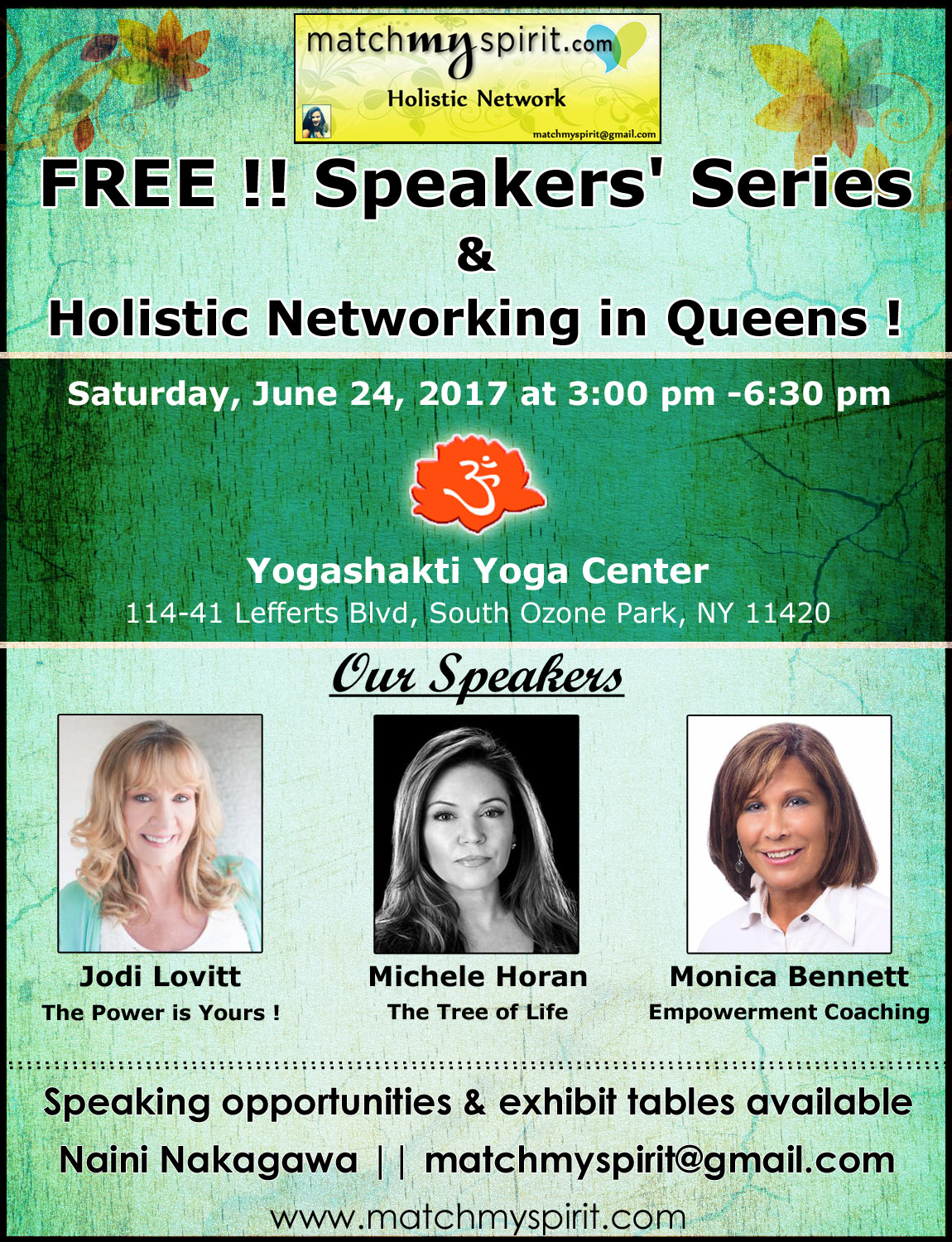 Speakers' Series & Holistic Networking in Queens