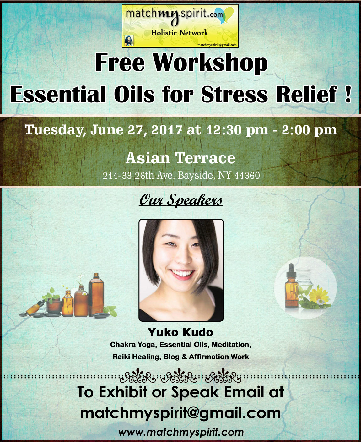 Free Workshop - Essential Oils for Stress Relief !